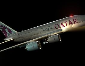 qatar aircraft 3d model
