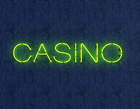 3D model Casino Neon Sign