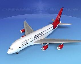 Airbus A380-800 Virgin Atlantic 3D model