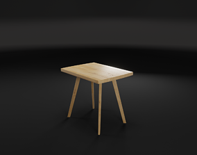 Chair Oak 3D MODEL low-poly
