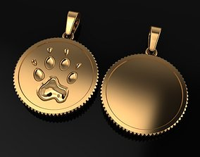3D printable model DOG COIN PENDANT Large Size