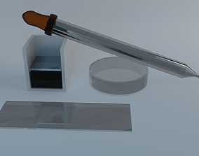 3D model Low-poly Microscope Accessories - Glass