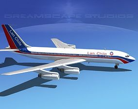 Boeing 707 LAN Chile 3D model