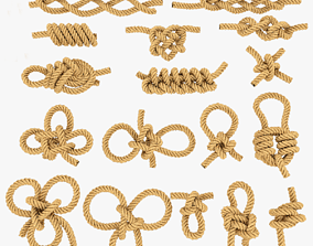 rope knot bundle 3D asset game-ready