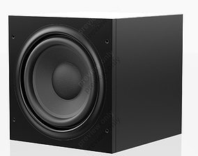 3D Bowers and Wilkins ASW 610 Black