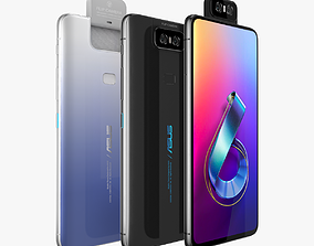 3D model Asus Zenfone 6 ZS630KL All Color