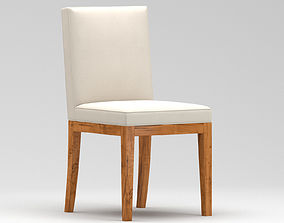 Brown and white armless chair 3D
