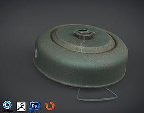 VR / AR ready WW1 Realistic land mine Low-Rez with 3