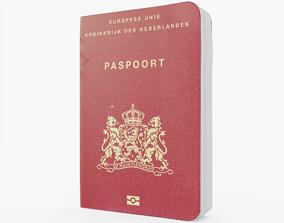Passport Netherlands 3D asset