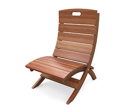 Wooden chair v2 3D model