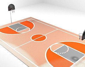 3D Game Court - Basketball