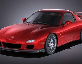 3D Mazda RX-7 1998 - 2002 VRAY