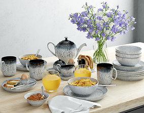 Kitchen set 1 tableware 3D