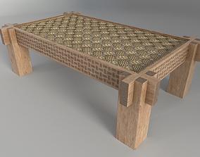 3D asset Wicker coffee table