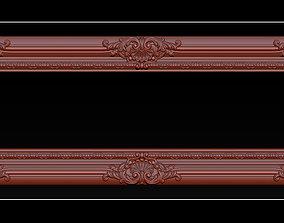 Classical carved frame 3D print model