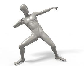 3D asset low-poly Bolt Victory