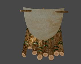 Raft with sail 3D printable model