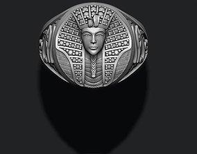 Pharaoh ring with gems 3D print model
