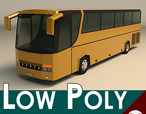 Low Poly Coach Bus 02 3D model