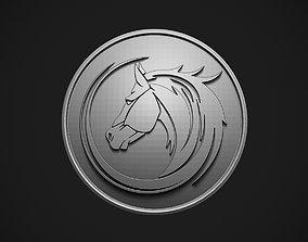 Horse Head Button 3D print model