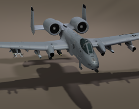 The Fairchild Republic A-10 Thunderbolt II 3D asset