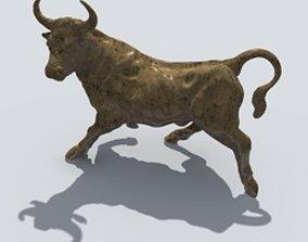 3D model decoration Buffalo sculpture