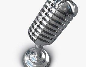 3D model Retro Microphone