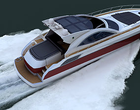 luxury yacht 1 3D asset