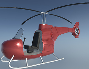 3D asset Single-seat helicopter