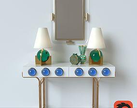 3D model JONATHAN ADLER CONSOLE-LAMP-VASE-MIRROR