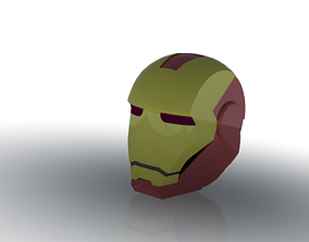 3D printable model Iron man helmet