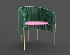 3D asset game-ready Lounge Chair