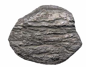 Gray mountain rock 5 PBR 3D model