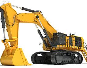 Hydraulic Mining Shovel 3D model