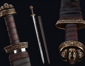 Lowpoly Medieval Carolingian Sword 3D model