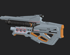 Weapons of the future 3D asset