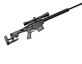 3D model Ruger Precision Rifle with Scope AAA Game