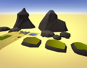 Low Poly Beach Pack 3D asset VR / AR ready