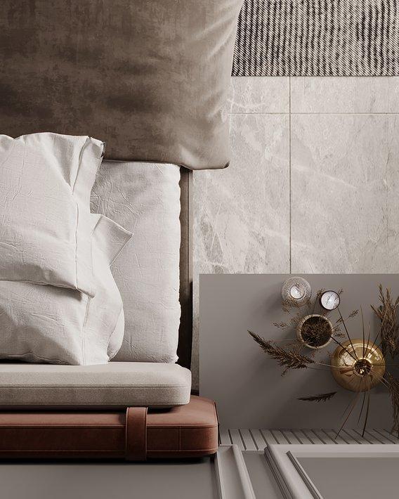 bed design interior scene