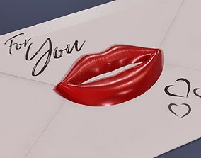 3D model Envelope Kiss Sealed