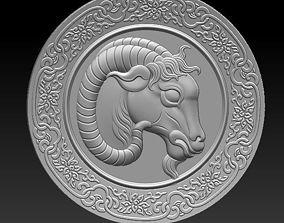 3D ram head engraving