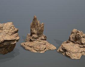 sand Rock Set 3D model VR / AR ready