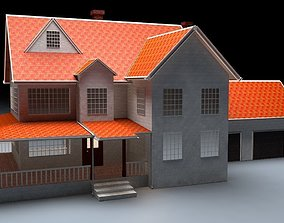 structure North American Type Garden State House 3D asset