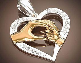 3D print model maternal love pendant