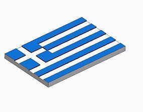 Flag of Greece 3D printable model
