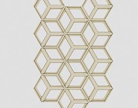 Hexagon Panel 3D asset