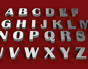 BRITANNIC BOLD font uppercase and lowercase 3D letters 1
