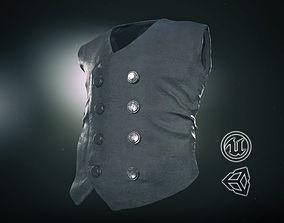 3D model game-ready Cowboy Vest