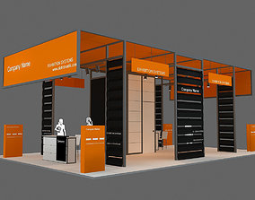 3D model Exhibition Stand - ST002