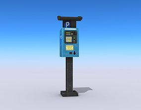 Parking Meter 3D model pay